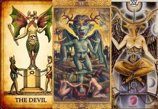 таро дьявол в разных оракулах
