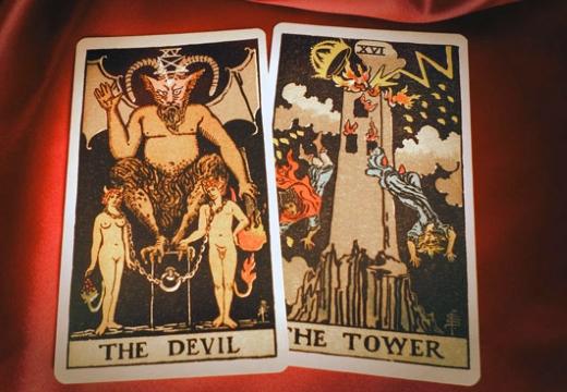 таро дьявол башня