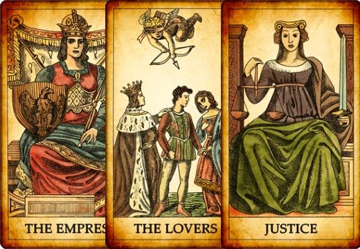 таро императрица любовники справедливость