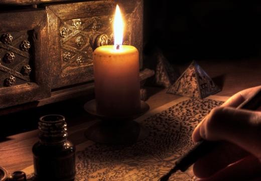 рисовать при свече