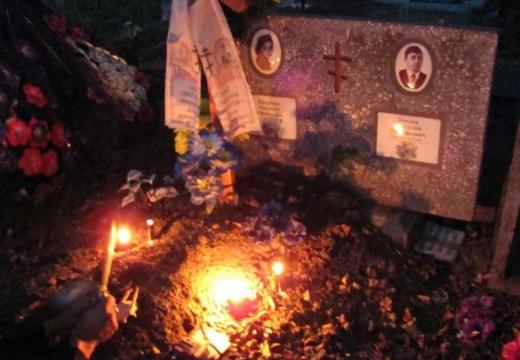 ритуал ночью кладбище