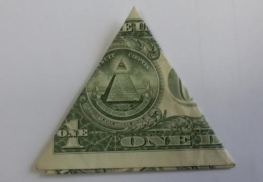 треугольник из доллара