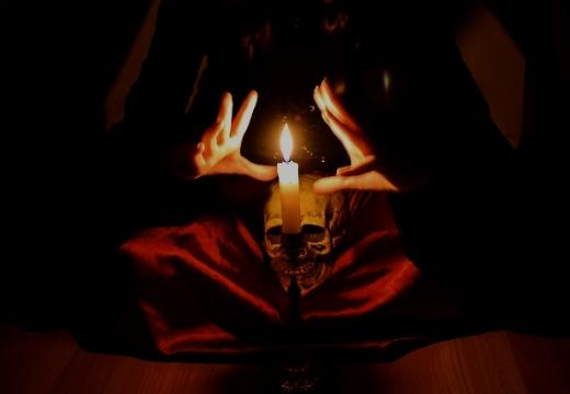 череп свеча